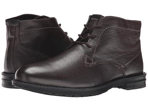 Nunn Bush - Dexter Plain Toe Chukka Boot (Dark Brown) Men's Lace-up Boots