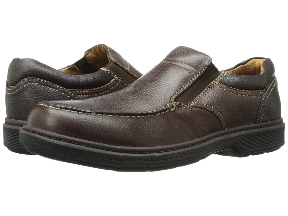 Nunn Bush Webster Moc Toe Slip-On (Brown) Men