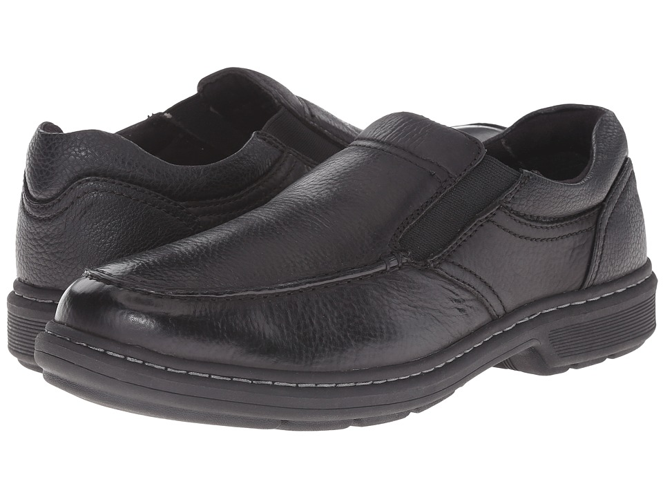Nunn Bush Webster Moc Toe Slip-On (Black) Men
