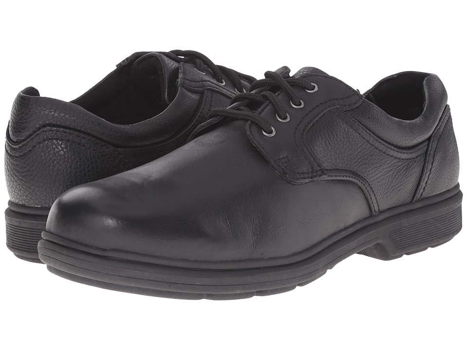 Nunn Bush - Waterloo Plain Toe Waterproof Oxford (Black Tumbled) Men's Plain Toe Shoes
