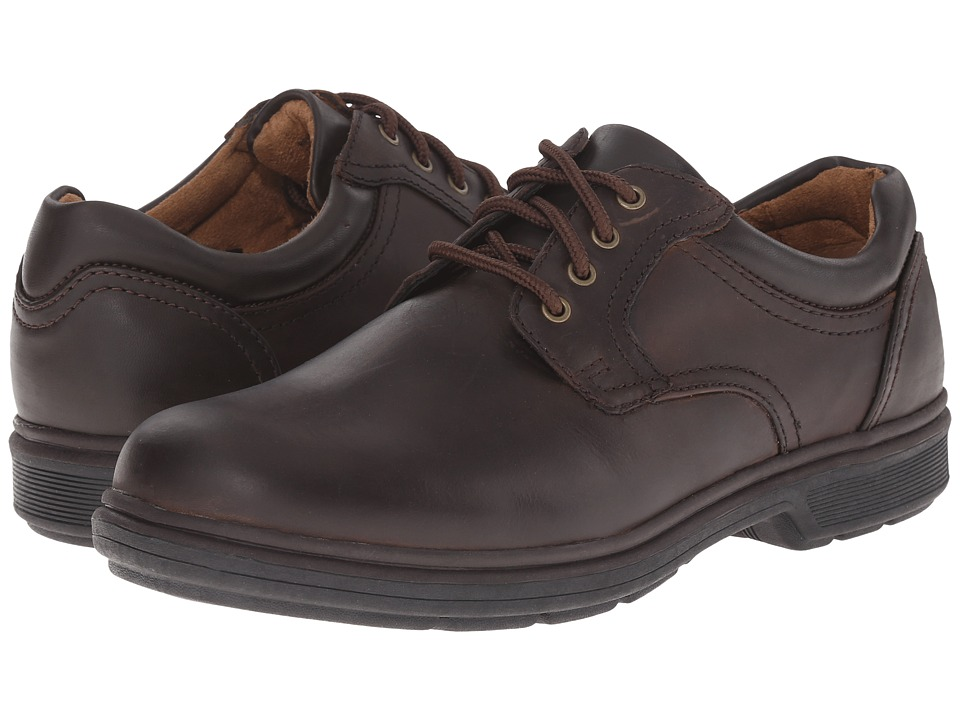 Nunn Bush - Waterloo Plain Toe Waterproof Oxford (Brown Crazy Horse) Men's Plain Toe Shoes