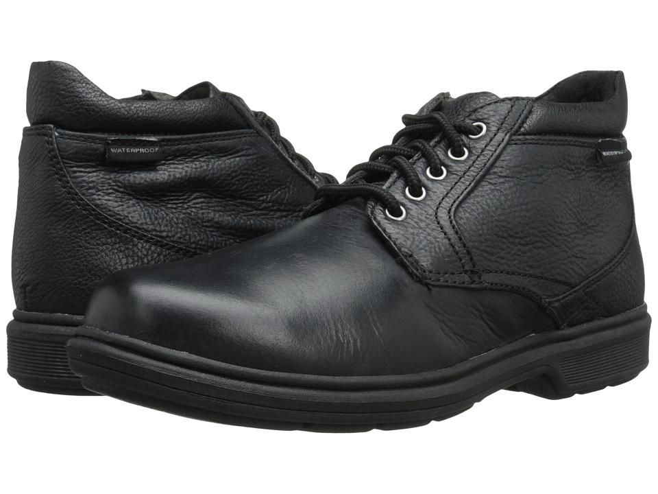 Nunn Bush - Webb Lake Plain Toe Waterproof Boot (Black Tumbled) Men's Lace-up Boots