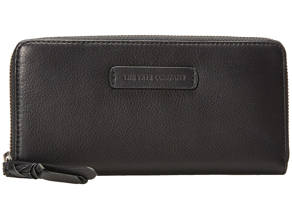 Frye - Jenny Zip Wallet 2 (Black Soft Vintage Leather) Wallet Handbags