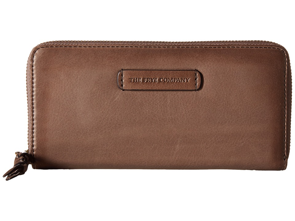 Frye - Jenny Zip Wallet 2 (Grey Soft Vintage Leather) Wallet Handbags