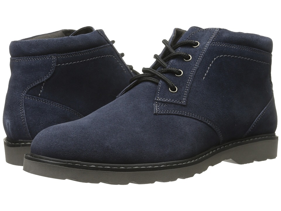 Nunn Bush - Tomah Plain Toe Chukka Boot (Navy Suede) Men's Lace-up Boots