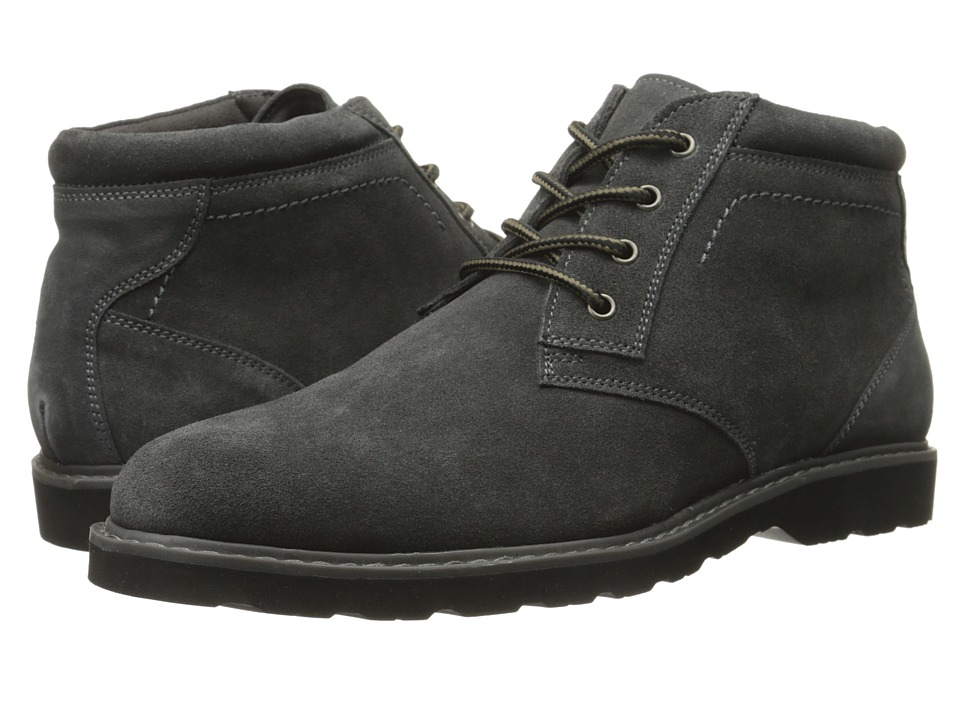 Nunn Bush - Tomah Plain Toe Chukka Boot (Gray Suede) Men's Lace-up Boots