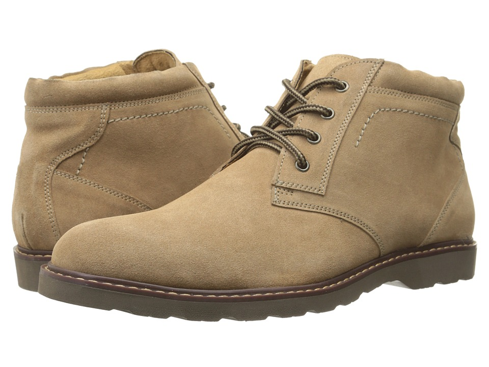 Nunn Bush - Tomah Plain Toe Chukka Boot (Sand Suede) Men's Lace-up Boots