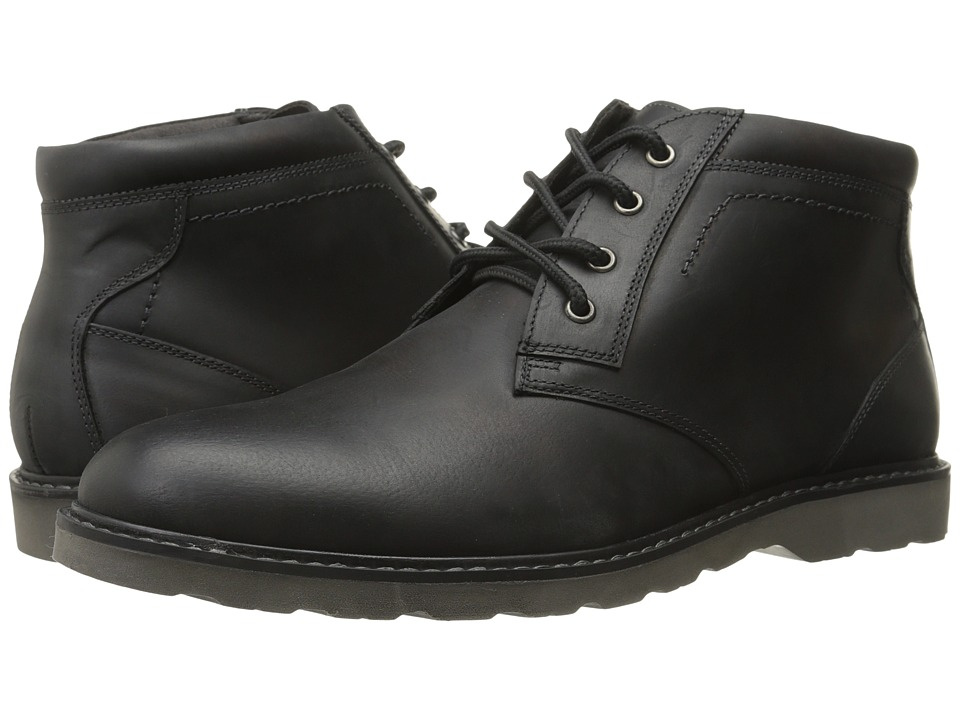 Nunn Bush Tomah Plain Toe Chukka Boot (Black Smooth Leather) Men