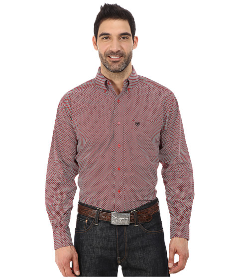 Ariat - Carson Print Shirt (Black) Men's Long Sleeve Button Up