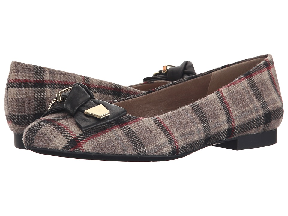 Bella-Vita Ozark (Stone Plaid Flannel/Black) Women