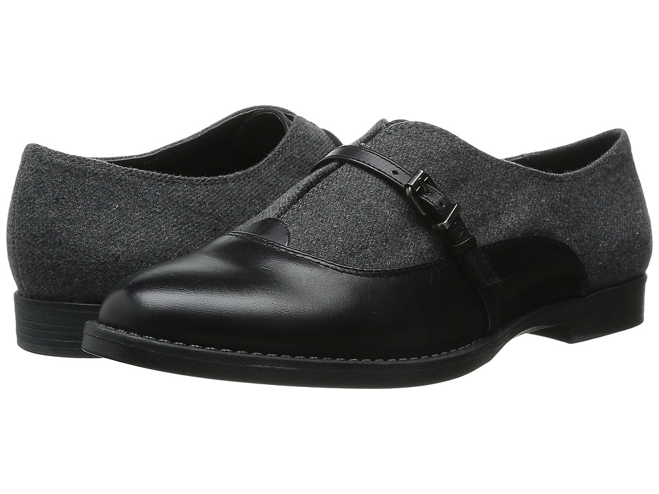Bella-Vita Reese (Black/Grey Flannel) Women