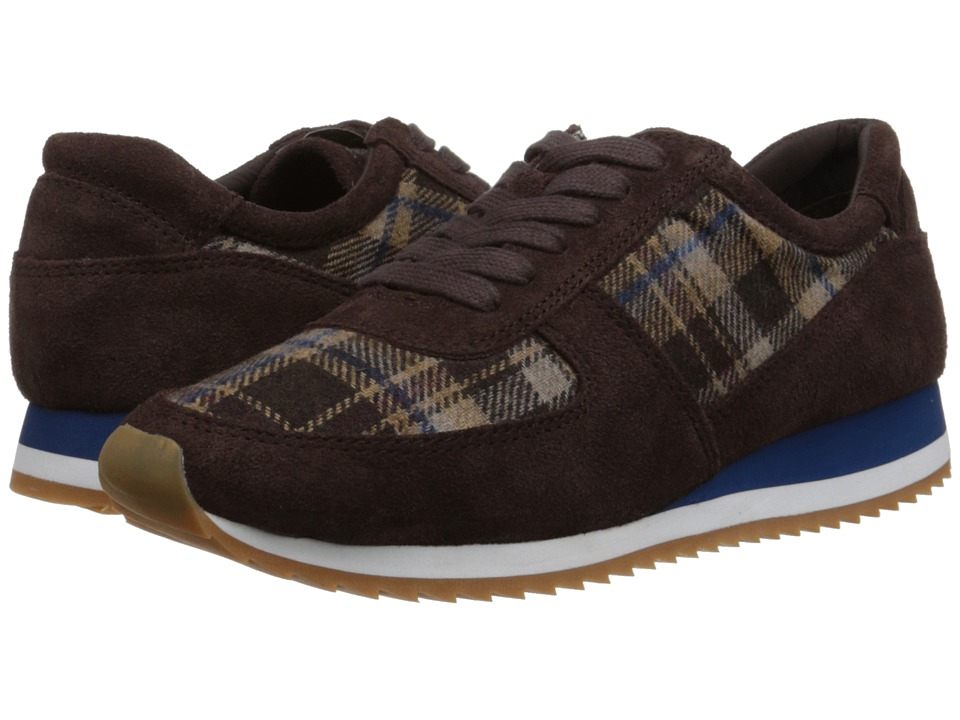 Bella-Vita Emile (Dark Brown Suede/Brown Plaid Flannel) Women