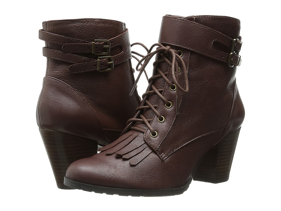Bella-Vita - Kody (Dark Tan) Women's Dress Lace-up Boots