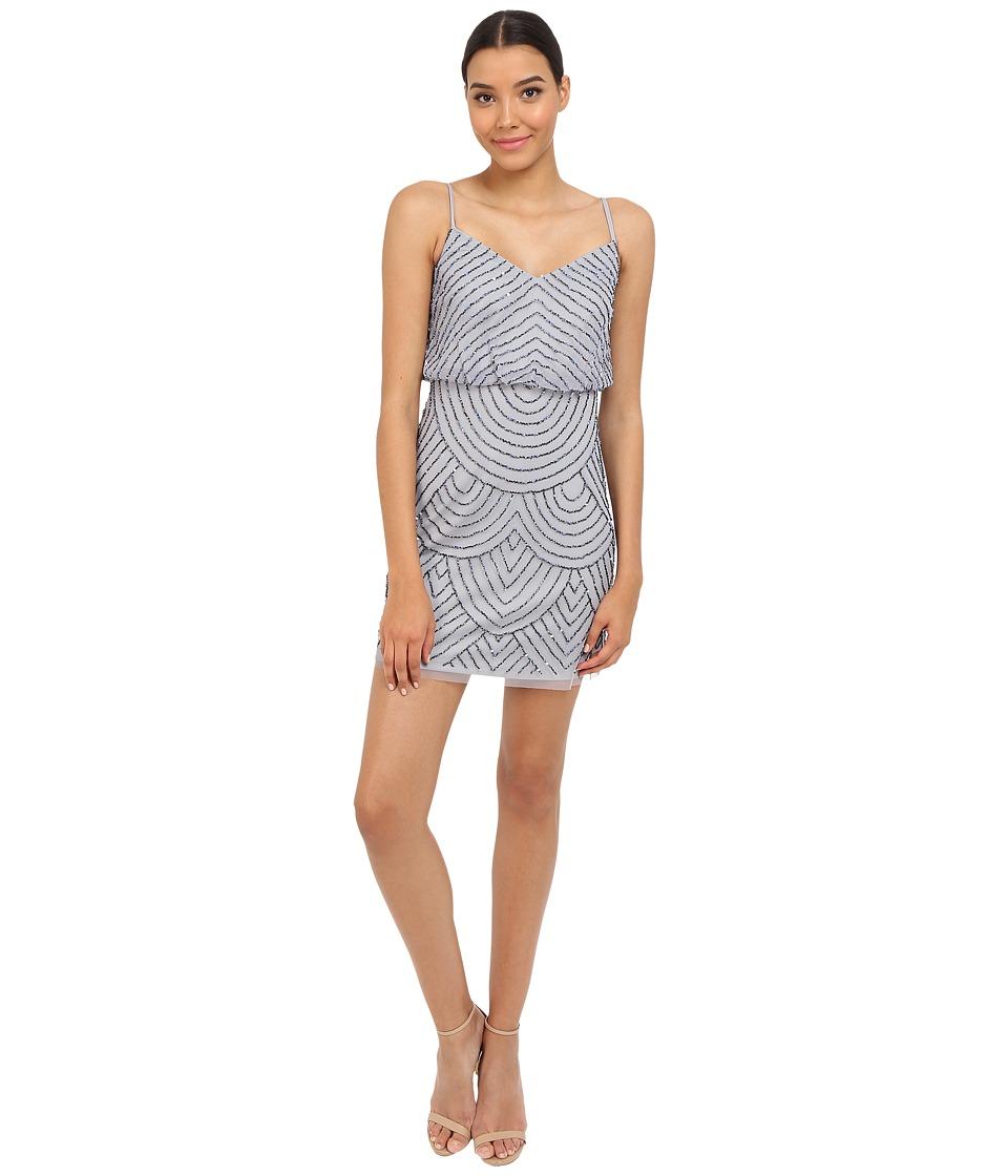 Adrianna Papell - Blouson Bead Dress (Dusty Blue) Women's Dress