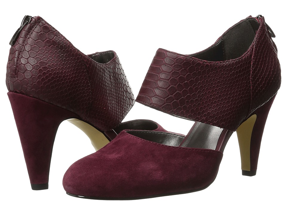 Bella-Vita - Neola (Burgundy Suede/Croco) High Heels