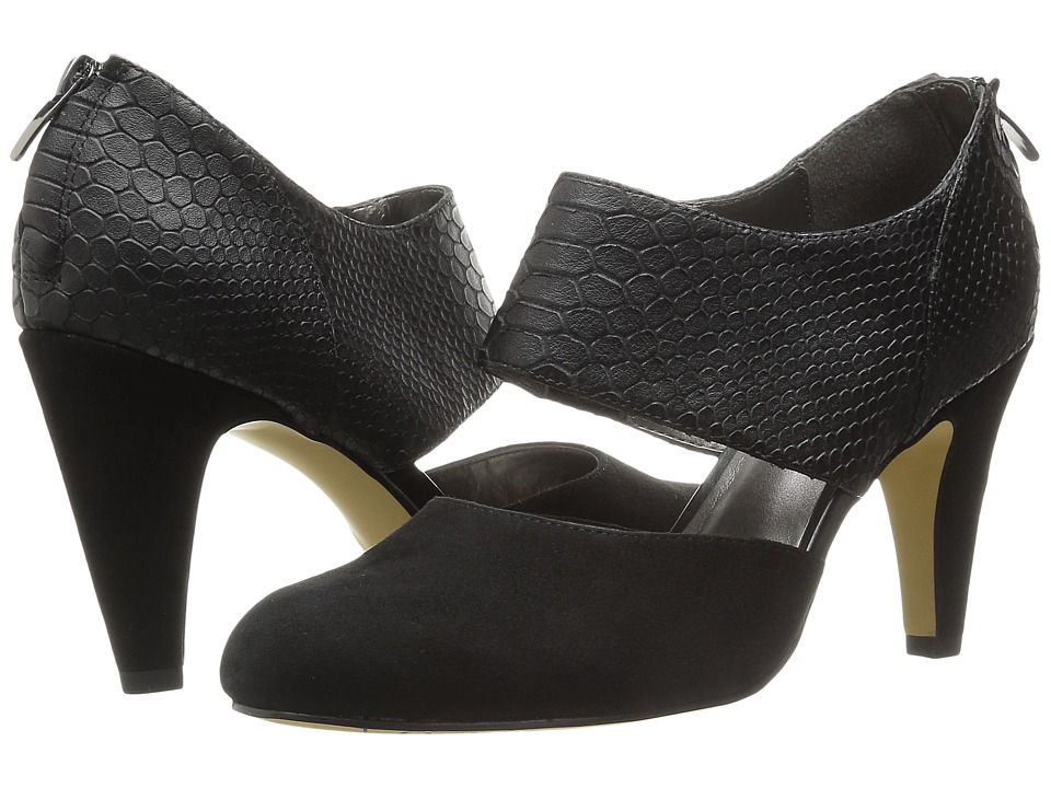 Bella-Vita - Neola (Black Suede/Croco) High Heels