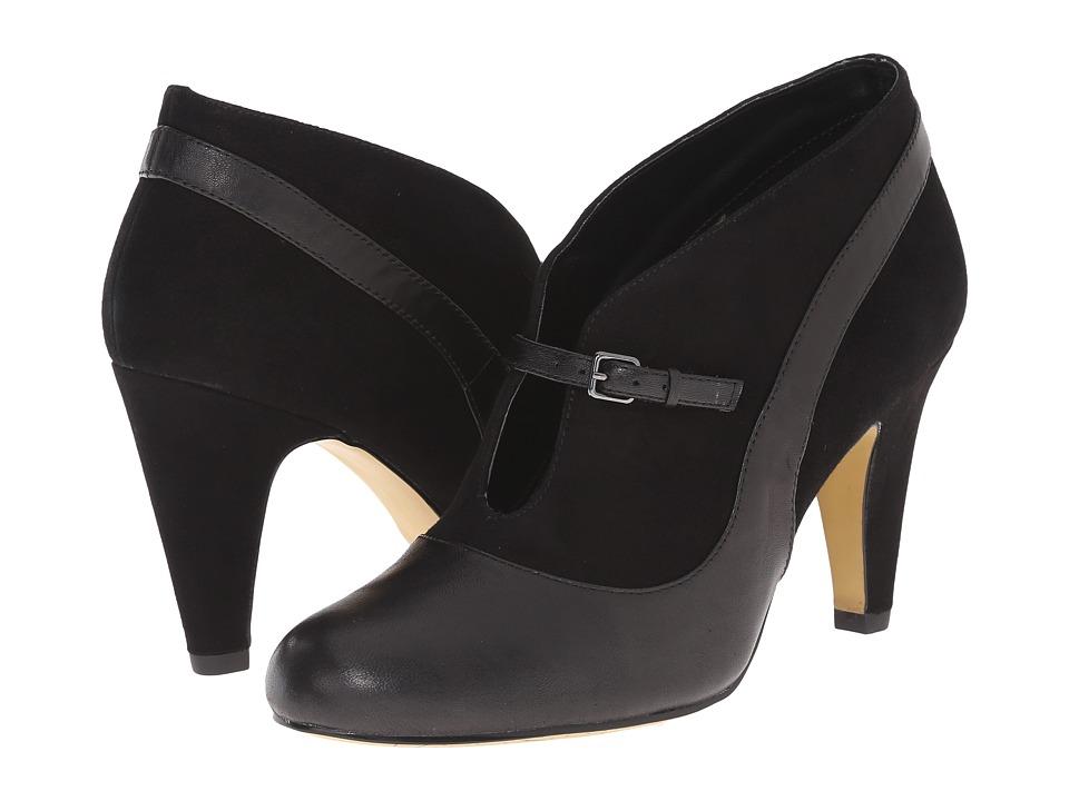 Bella-Vita Neely (Black/Black Suede) High Heels