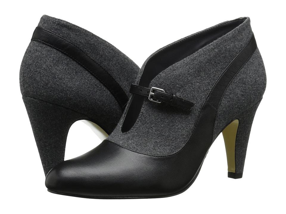 Bella-Vita Neely (Black/Grey Flannel) High Heels