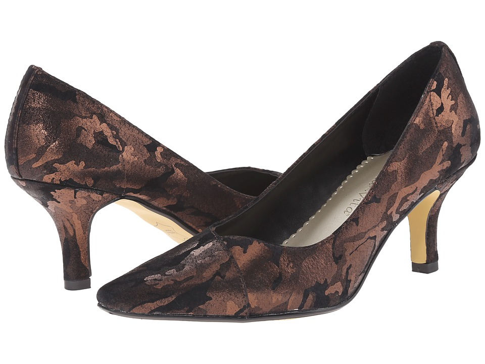 Bella-Vita - Wow (Black/Bronze Camo) High Heels