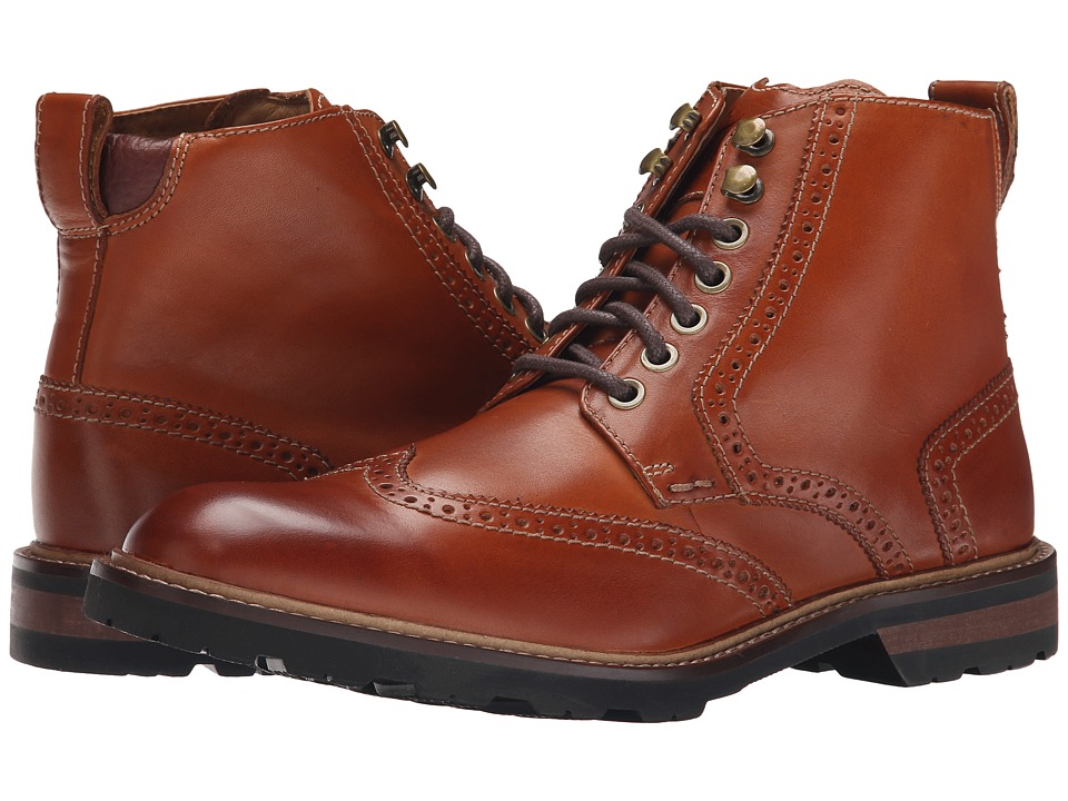Florsheim Kilbourn Wingtop Boot (Saddle Tan Smooth) Men