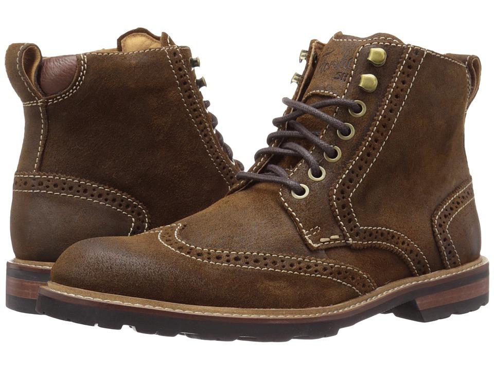 Florsheim Kilbourn Wingtop Boot (Stone Waxy Suede) Men
