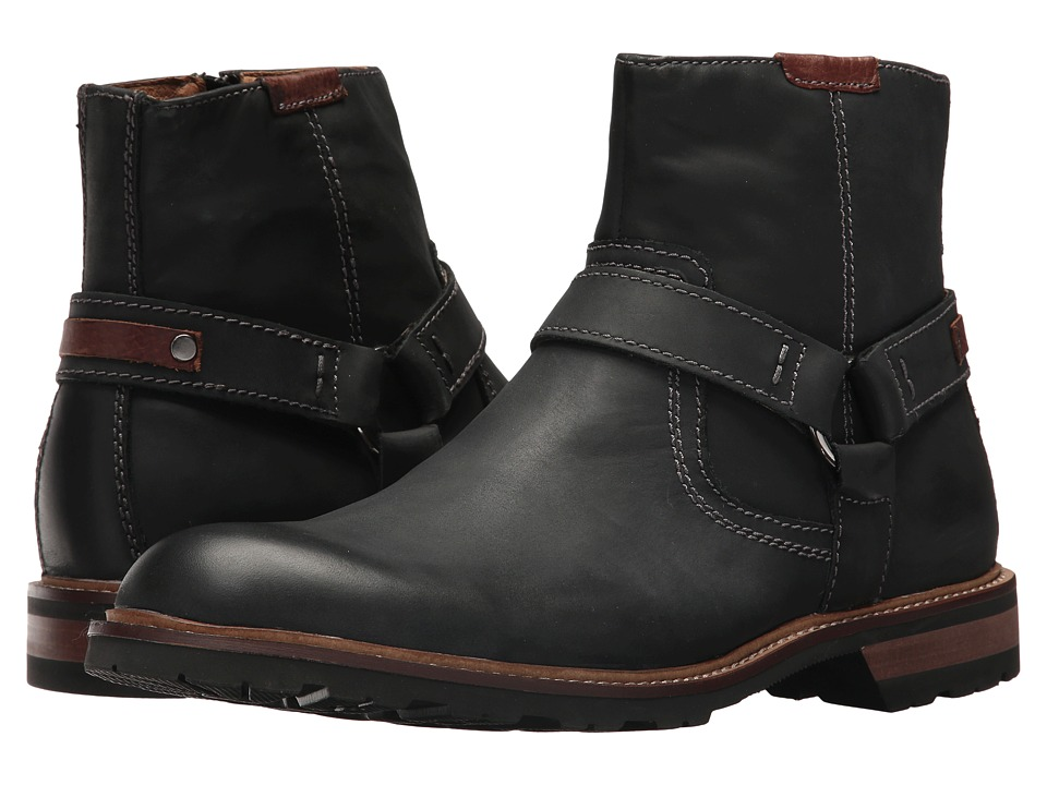 Florsheim Kilbourn Harness Boot (Black Crazy Horse Leather) Men