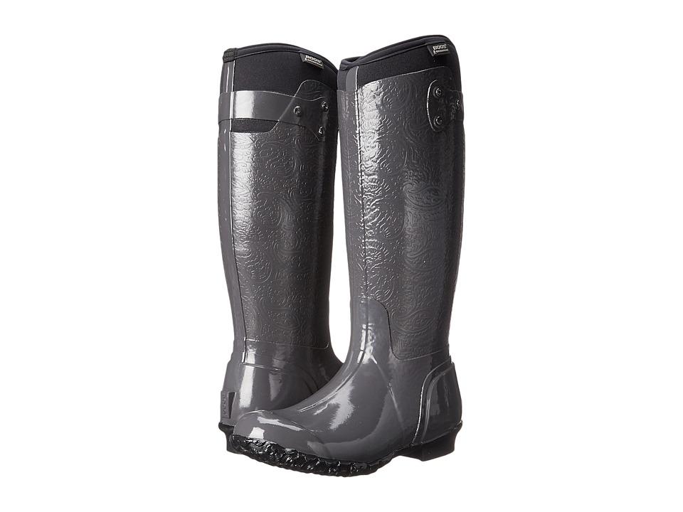 Bogs - Rider Emboss (Grey) Women's Boots