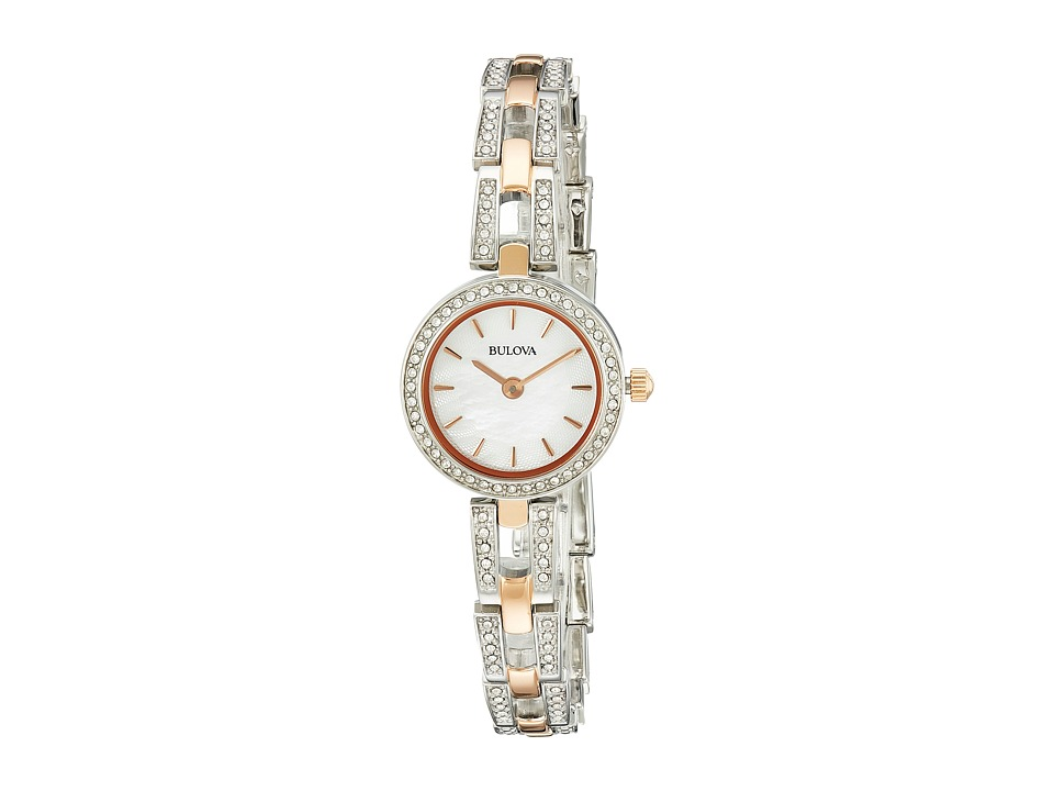Bulova - Crystal - 98L212 (Rose) Dress Watches
