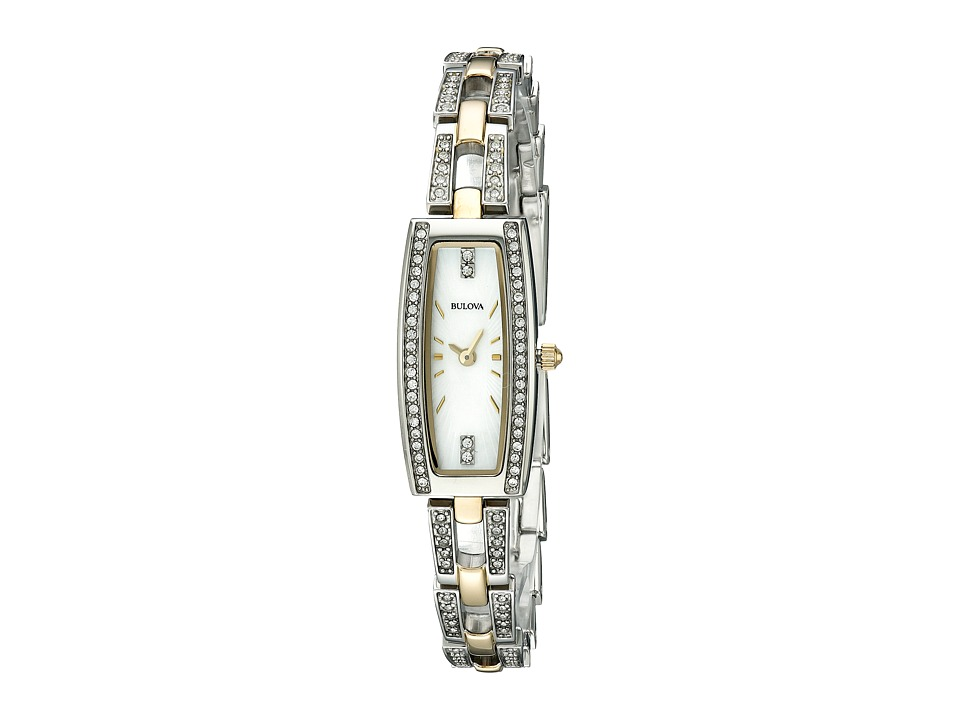 Bulova - Crystal - 98L214 (Two-Tone) Dress Watches