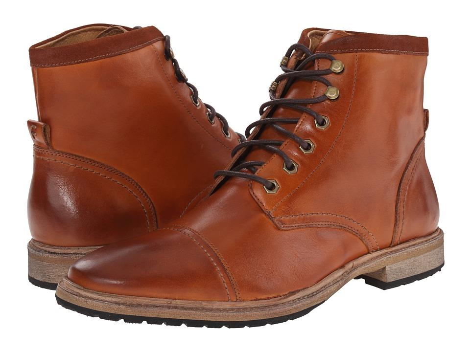 Florsheim Indie Cap Toe Boot (Saddle Tan Smooth) Men