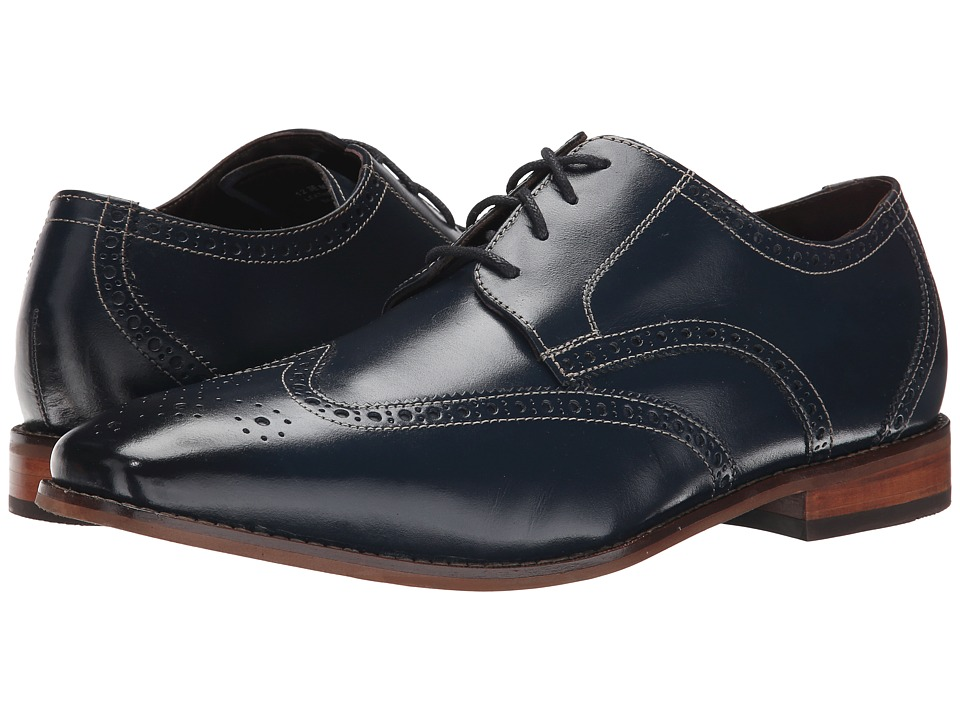 Florsheim - Castellano Wingtip Oxford (Navy Smooth) Men's Lace Up Wing Tip Shoes