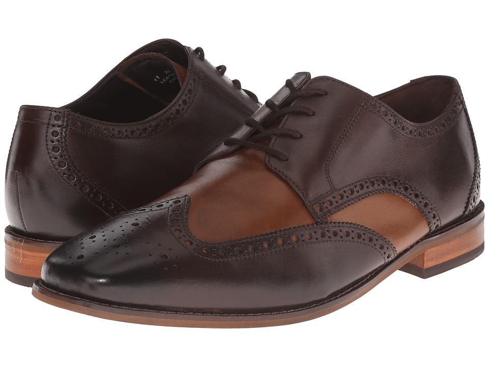 Florsheim - Castellano Wingtip Oxford (Brown/Saddle Tan Smooth) Men's Lace Up Wing Tip Shoes