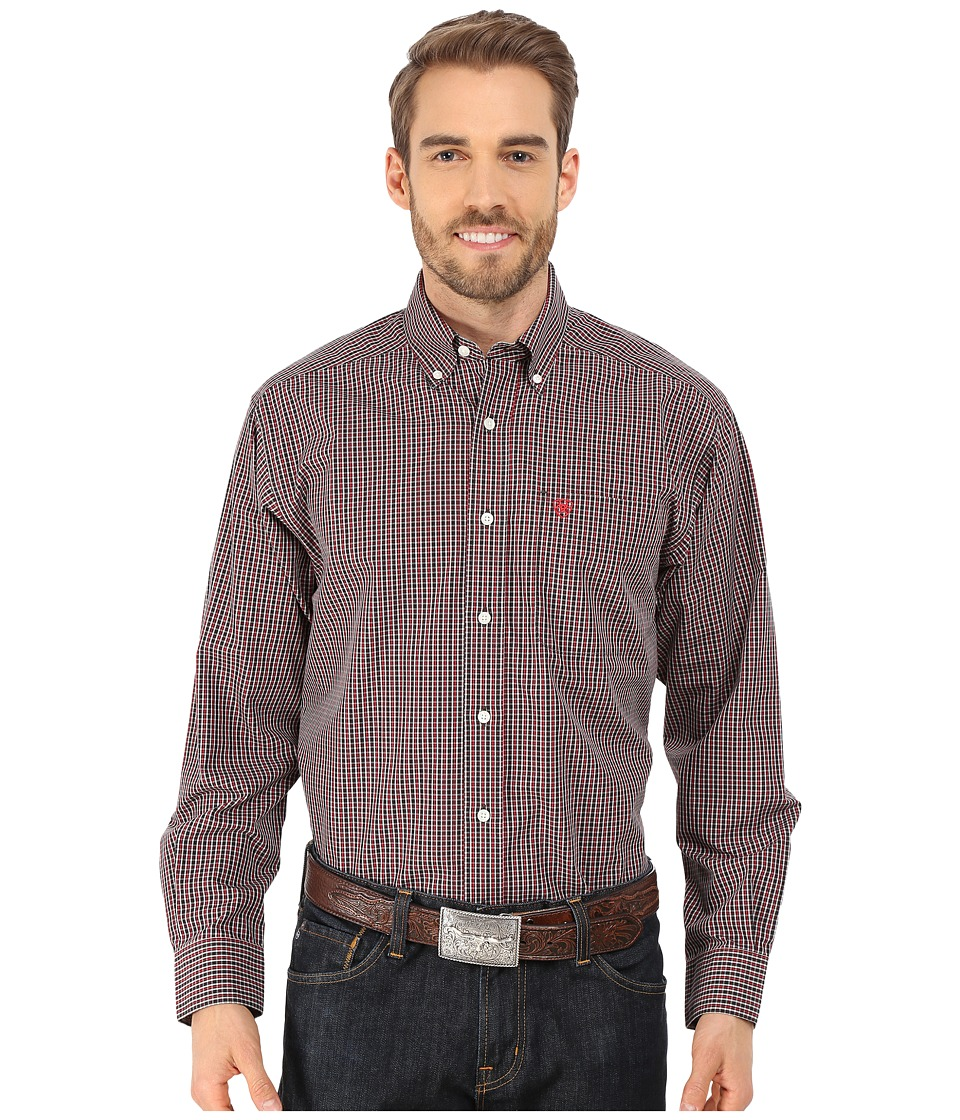 Ariat - Duke Shirt (Classic Red) Men's Long Sleeve Button Up
