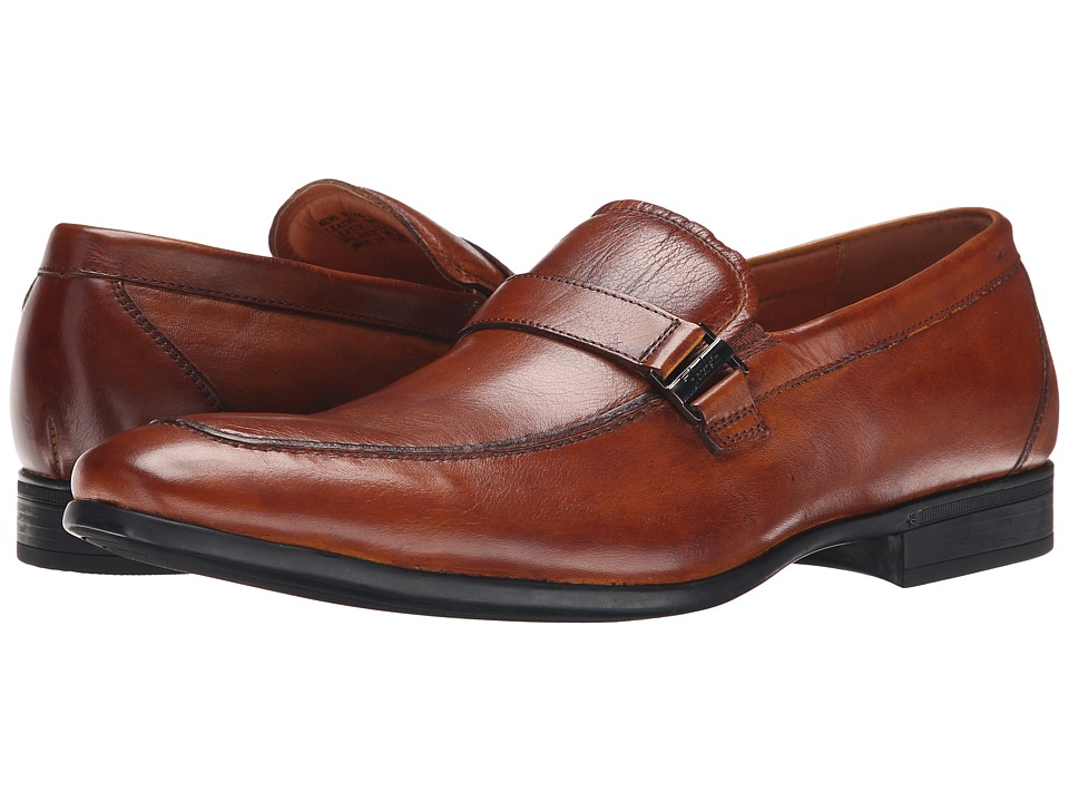 Florsheim Burbank Bit Slip-On Cognac Milled Mens Slip-on Dress Shoes