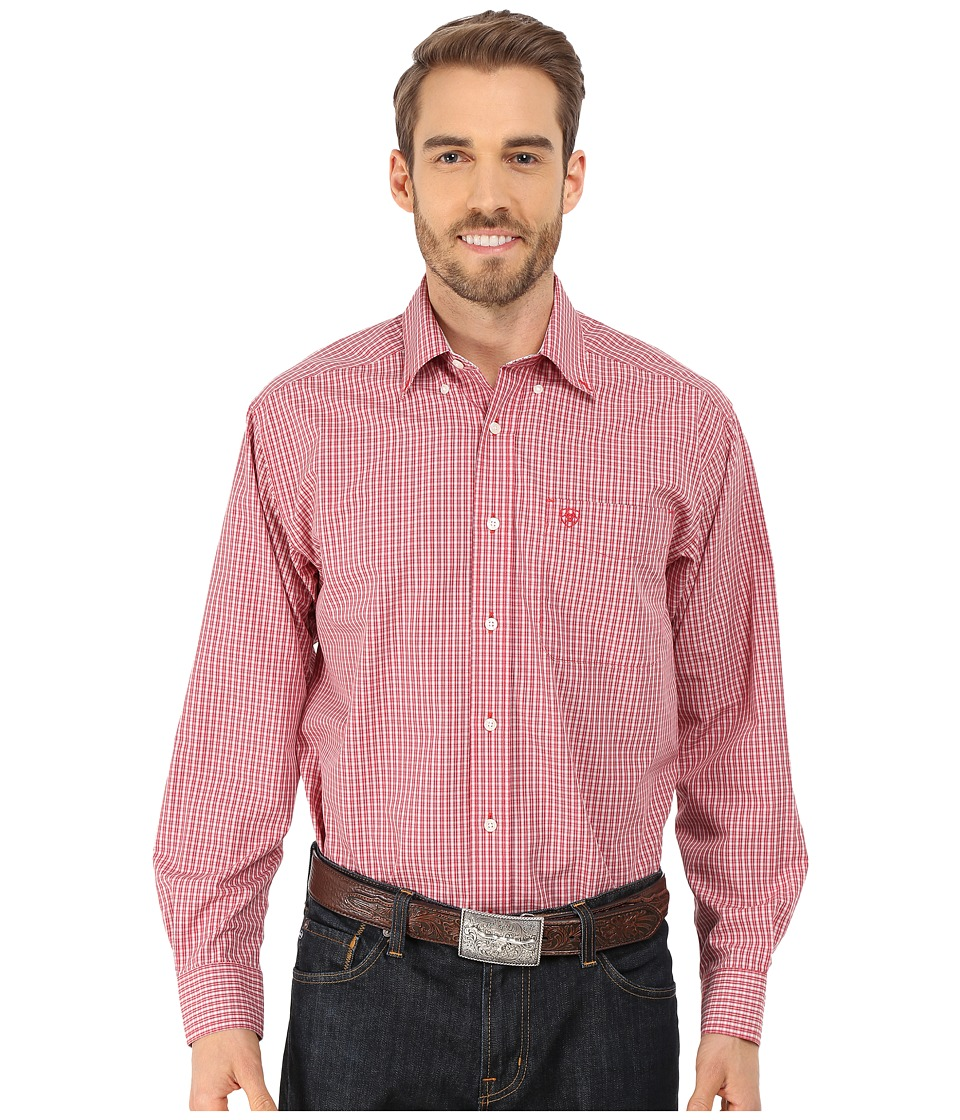 Ariat - Douglas Shirt (Classic Red) Men's Long Sleeve Button Up