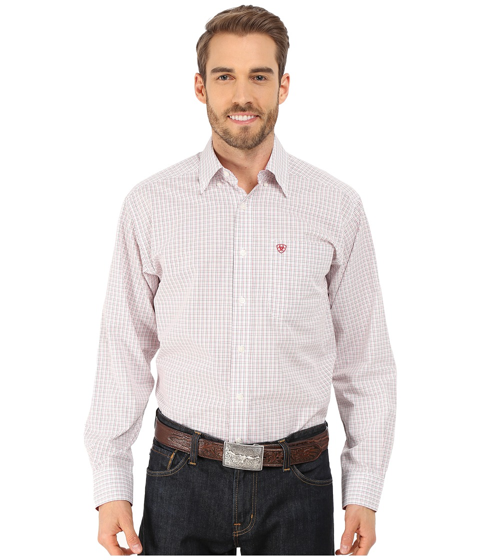 Ariat - Davis Shirt (White) Men's Long Sleeve Button Up