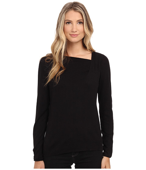 NIC+ZOE - Over The Moon Top (Black Onyx) Women's Long Sleeve Pullover