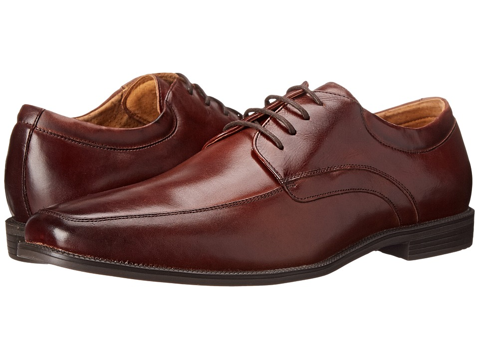 Florsheim - Forum Moc Toe Oxford (Cognac Smooth) Men's Lace Up Moc Toe Shoes