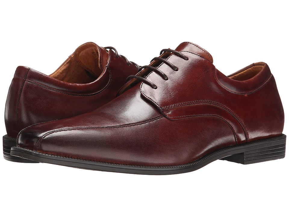 Florsheim - Forum Bike Toe Oxford (Cognac Smooth) Men's Plain Toe Shoes