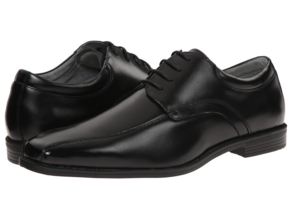 Florsheim - Forum Bike Toe Oxford (Black Smooth) Men's Plain Toe Shoes