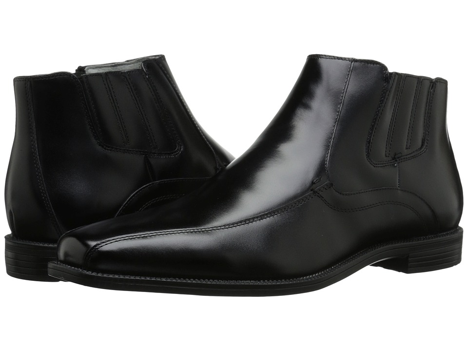 Florsheim - Forum Bike Toe Boot (Black Smooth) Men's Zip Boots