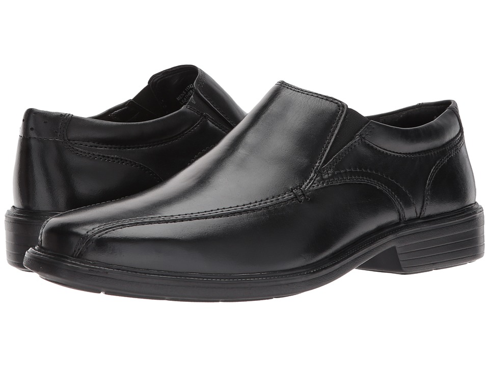 Florsheim - Rally Bike Toe Slip-On (Black Smooth) Men's Slip-on Dress Shoes