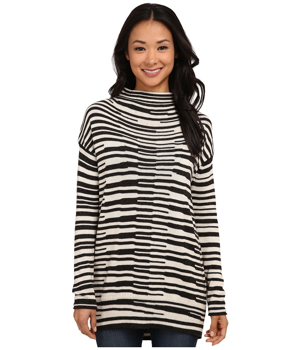 NIC+ZOE - Stacked Stripes Top (Silver Cloud Mix) Women
