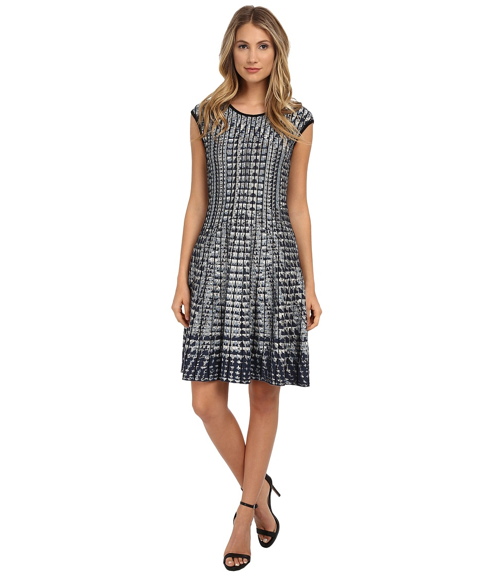 NIC+ZOE - Checked Out Twirl Dress (Multi) Women