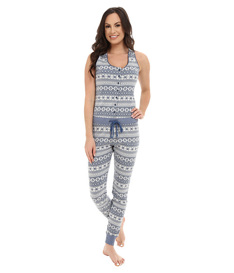 UGG - Nomie Jumpsuit (Blue Jay Fair Isle) Women's Jumpsuit & Rompers One Piece
