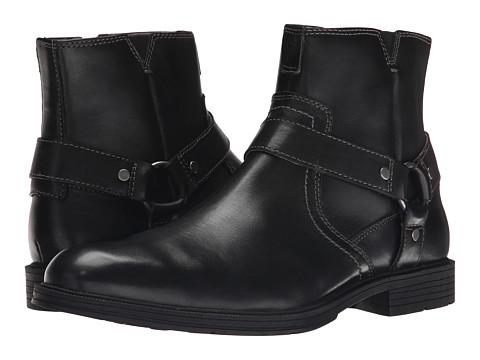 Florsheim - Mogul Harness Boot (Black Smooth) Men's Zip Boots