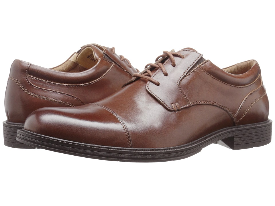 Florsheim Mogul Cap Toe Oxford (Cognac Smooth) Men