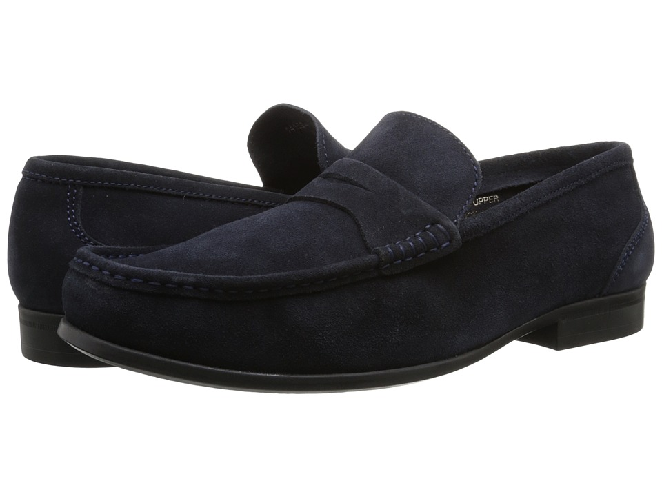 Florsheim - Felix Penny (Navy Suede) Men's Shoes
