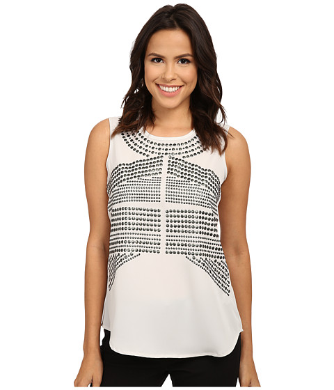 NIC+ZOE - Simply Studded Top (Powder) Women's Sleeveless