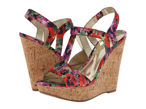 CARLOS by Carlos Santana - Bondi (Red Floral) Women's Wedge Shoes
